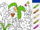Jungle Kleurplaat