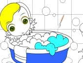 Colour In Bath Time