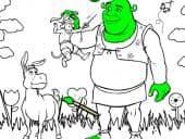 Shrek Inkleuren