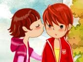 Kissing Couple Dress Up