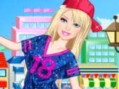 Skateboarding Barbie