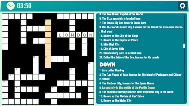 Play Crossword Casual online!