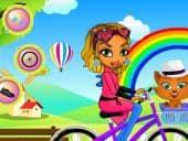 Mina on the Bike