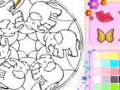 Elephant Colouring Picture