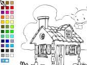House Colouring Picture