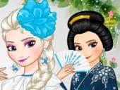 Elsa Around the World