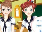 School Meisje Opmaken
